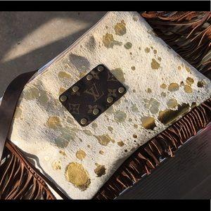 Faux Cowhide Louis Vuitton cross body purse
